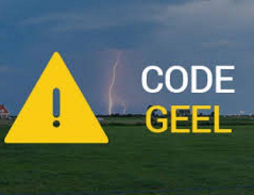 Het is code geel!